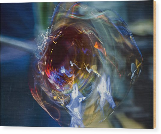 Glass In Motion Wood Print