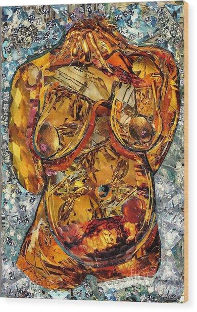 Glass Lady Wood Print