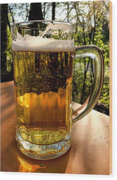 Glass Of Beer Wood Print