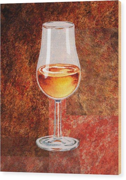 Glass Of Port Wood Print
