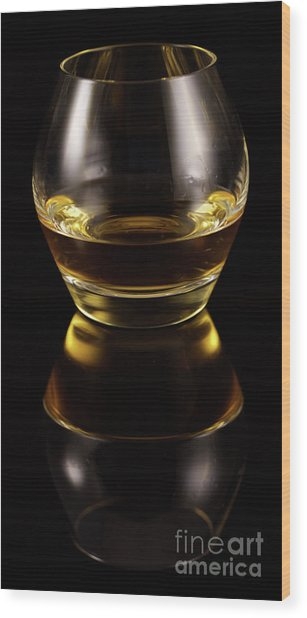 Glass Of Whiskey Wood Print