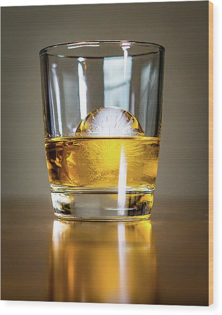 Glass Of Whisky Wood Print