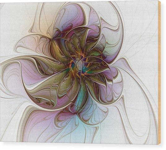 Glass Petals Wood Print