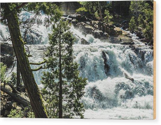 Glen Alpine Falls 1 Wood Print
