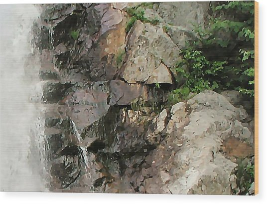 Glen Falls Abstract Wood Print