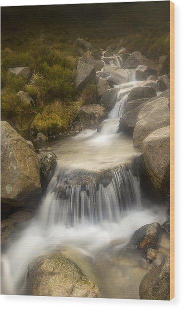 Glen River Nearer To The Source Wood Print