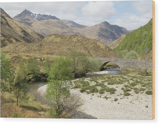 Wood Print featuring the photograph Glen Shiel - Scotland by Karen Van Der Zijden