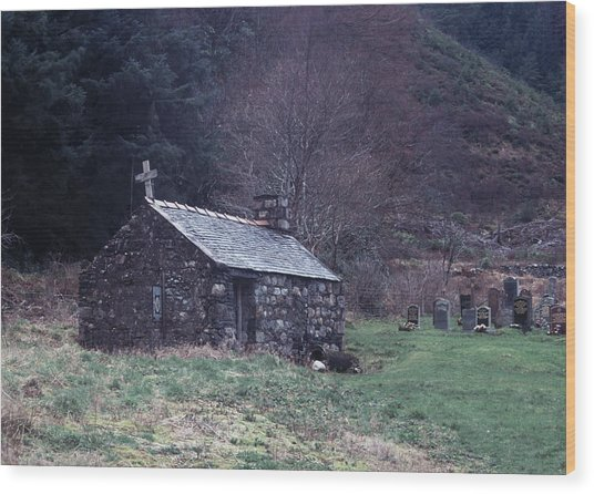 Glencoe Chapel Wood Print