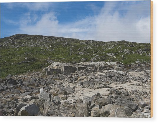 Wood Print featuring the photograph Glendasan Abandoned Mining Site Village by Enrico Pelos
