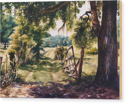 Glen's Pasture Wood Print by Marion  Hylton