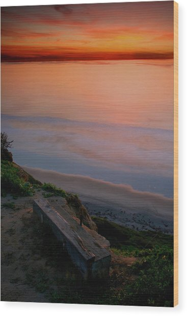 Gliderport Sunset 2 Wood Print
