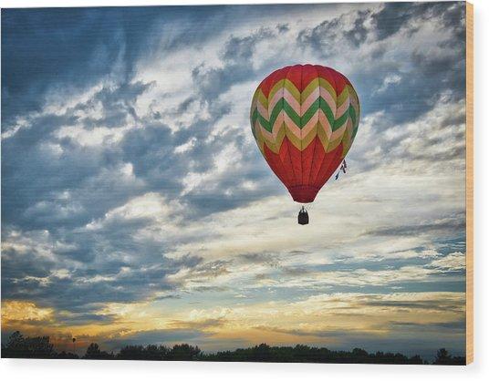 Gliding Through Sunset Wood Print