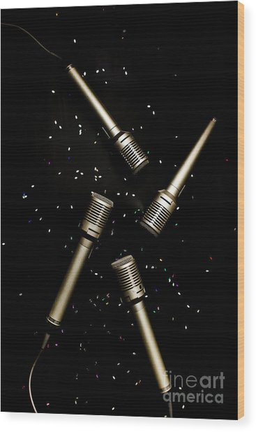 Glitz And Glam In Performing Arts Wood Print