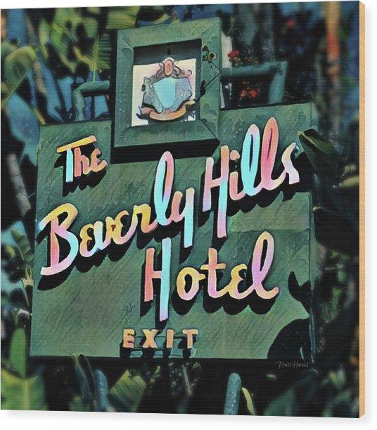 Glitzy Beverly Hills Hotel Wood Print