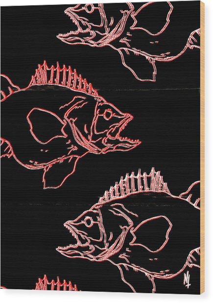 Glofish Wood Print by Nicholas Tullis