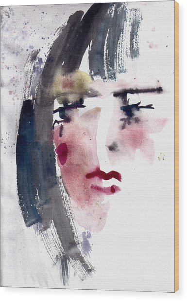 Gloomy Woman  Wood Print
