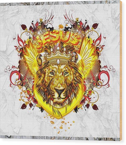 Glorious Jesus Wood Print