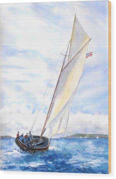Glorious Sail Wood Print