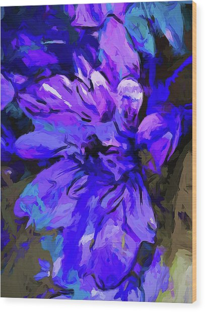 Glory Blue Wood Print