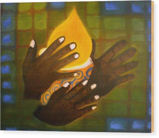 Glory Wood Print by Philip Okoro