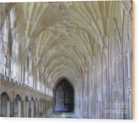 Gloucester Cathedral Cloisters Wood Print