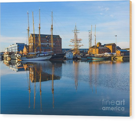 Gloucester Docks Wood Print