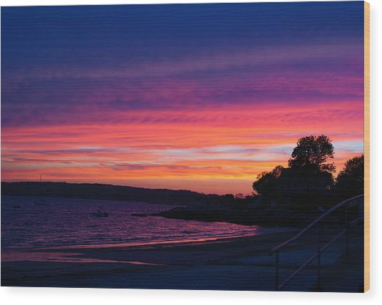 Gloucester Harbor Beach Wood Print