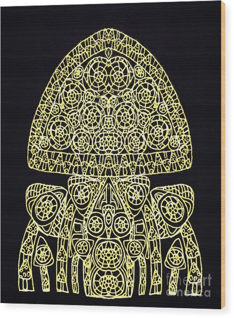Hybrid Black Wood Print by Sharon Bigland