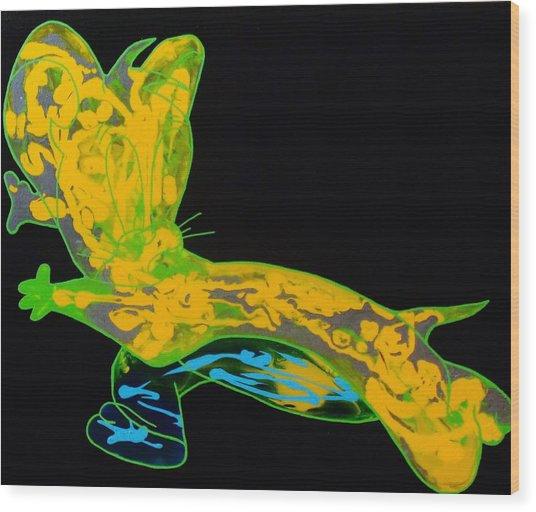 Glow Stick Wood Print