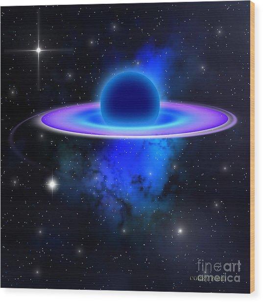 Glowing Black Hole  Wood Print