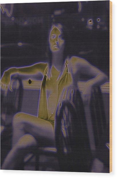 Glowing Brittney IIi Wood Print by James Granberry
