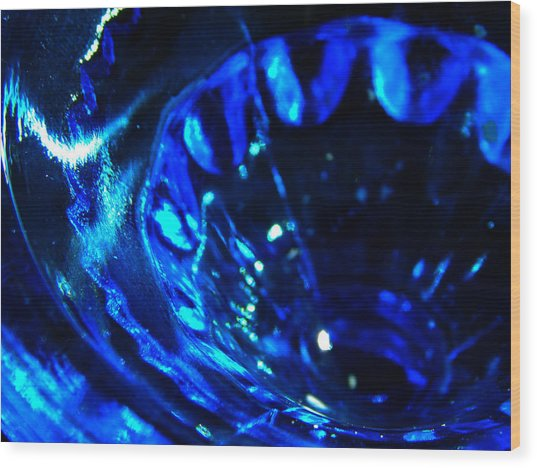 Glowing Glass Beauty Wood Print