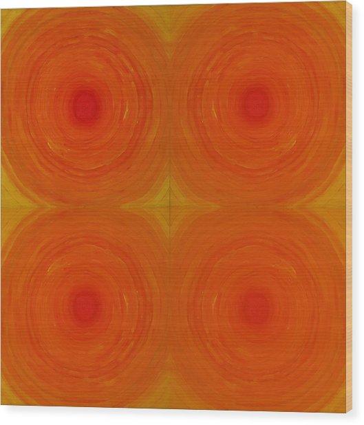 Glowing Orange Wood Print