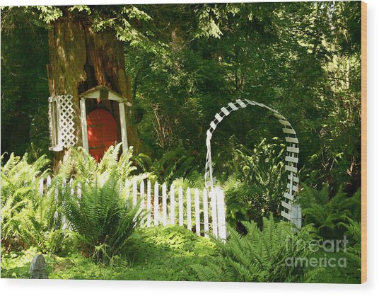 Gnome's House Wood Print by Robert Nankervis
