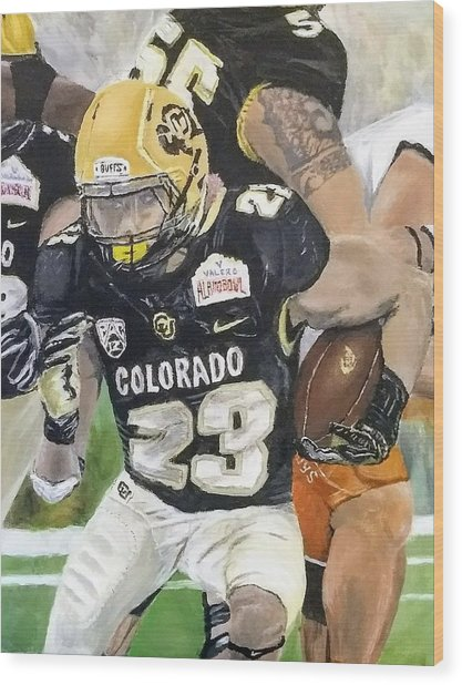 Go Buffs Wood Print