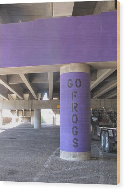 Go Frogs Wood Print