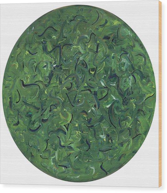 Go Green Wood Print by Patty Vicknair