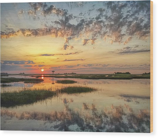 Sunrise Sunset Photo Art - Go In Grace Wood Print