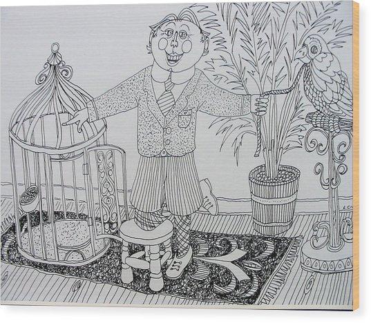 Go To Your Room Wood Print by Lou Cicardo