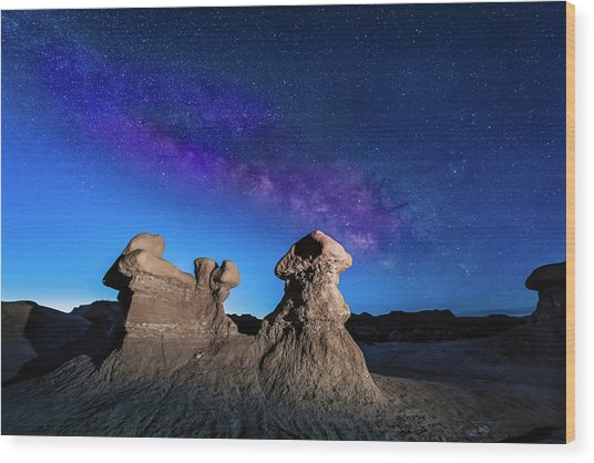 Goblin Milky Way  Wood Print