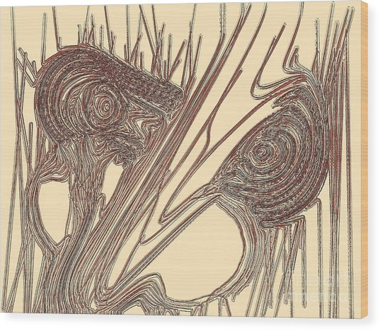 Goblin Wood Print by Patrick Guidato