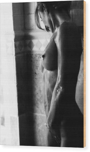 Gocce Di Pioggia Wood Print by Tonino Guzzo