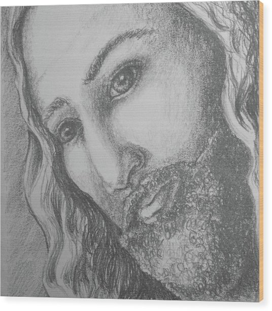 God Became Man Wood Print
