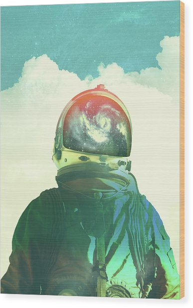 God Is An Astronaut Wood Print