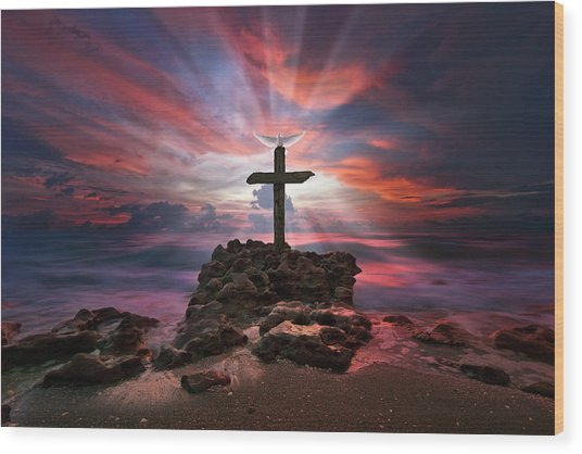 God Is My Rock Special Edition Fine Art Wood Print