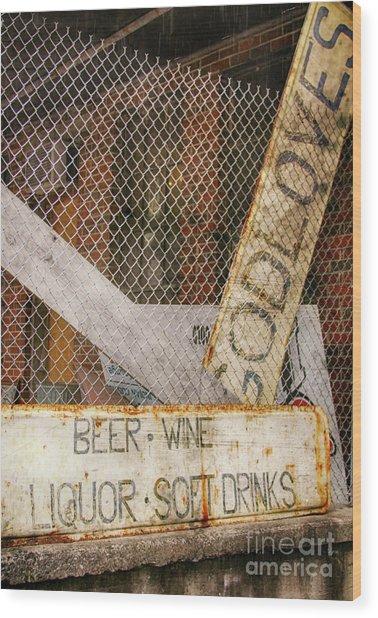 God Loves Beer  Wood Print by Steven Digman