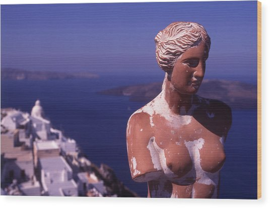 Goddess Of Love Wood Print by Steve Outram