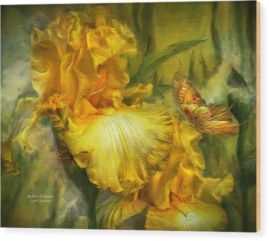 Goddess Of Summer Wood Print