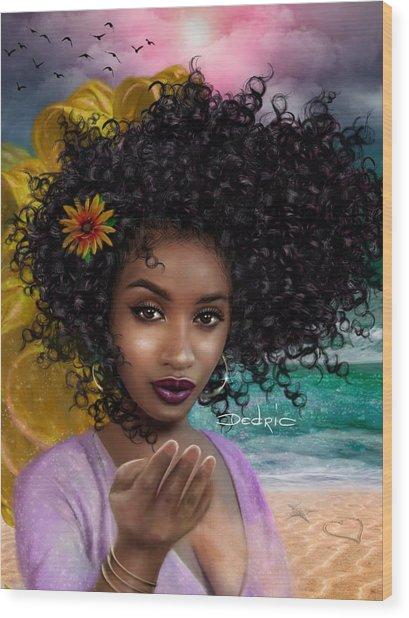 Goddess Oshun Wood Print