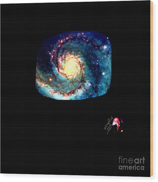 Godhood 2 - Whirlpool Galaxy Wood Print